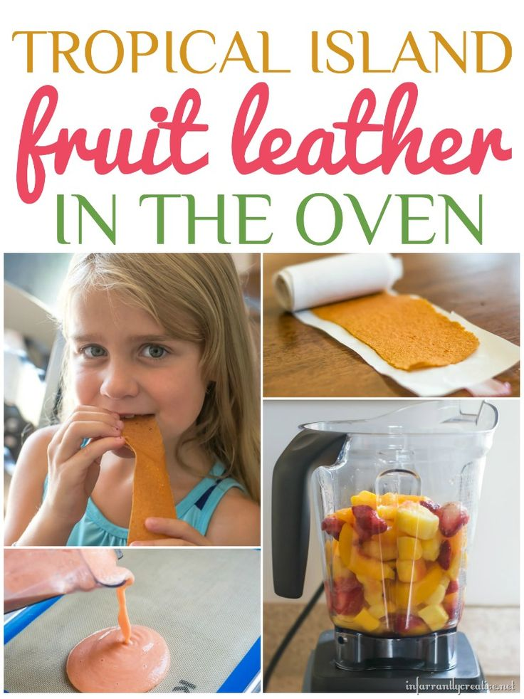 Tropical Island Fruit Leather makes a great back to school snack and is made easy with the Vitamix!