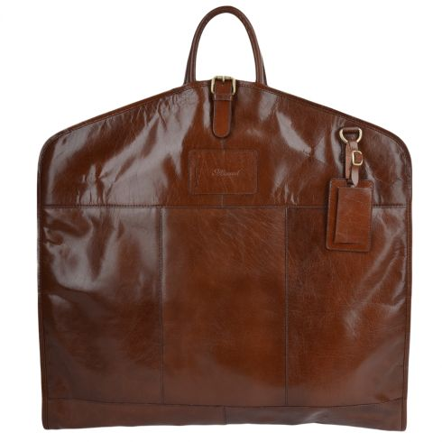 Ashwood Mens Leather Suit Carrier Chestnut : Harper
