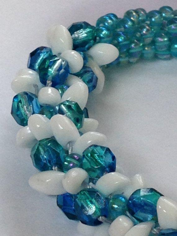 Turquoise and white bracelet
