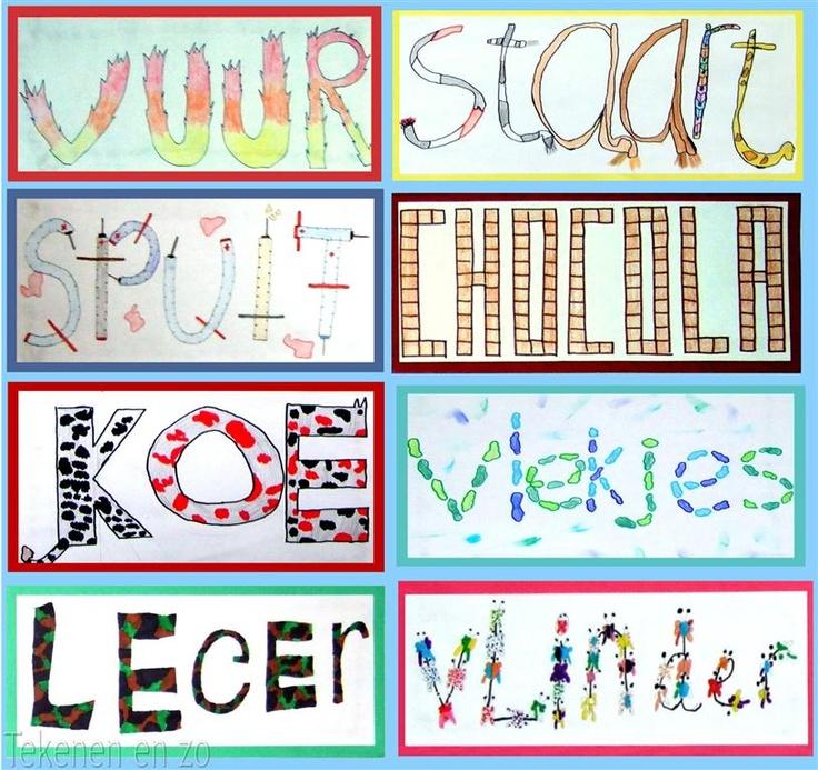 Tekenen en zo: cijfers en letters