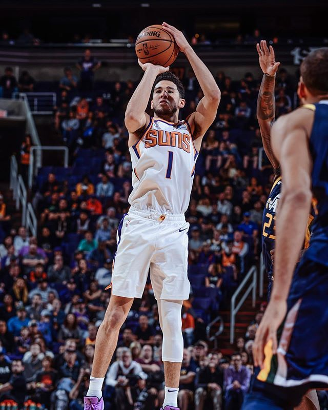 Phoenix Suns On Instagram Let It Fly The Suns Are The Only Team In The Nba This Season With 4 Players Shooting Over Devin Booker Nba League Nba Players