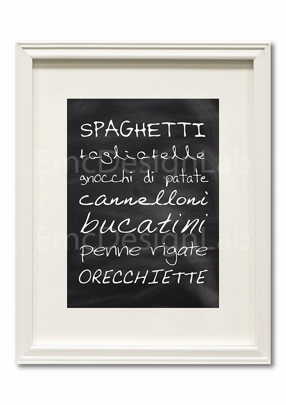 Italian Pasta Art - again, this would look great in a kitchen