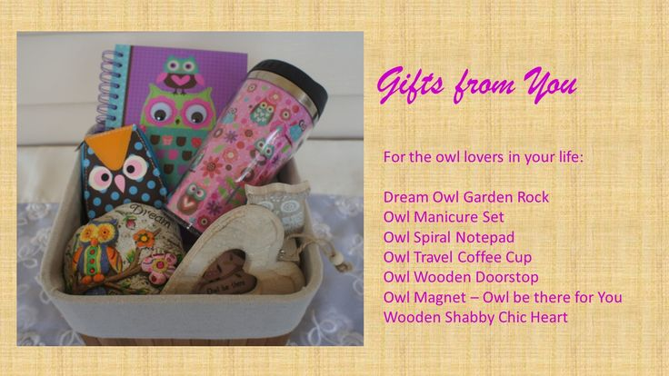 This is a great gift hamper for person in your life who #loves #owls  Valued at $60