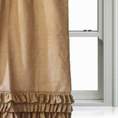 Burlap Curtain Panel Burlap Drapes Custom Door by AmoreBeaute