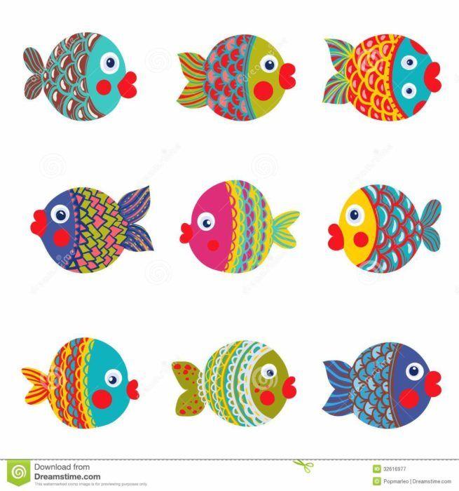 Desenhos De Peixes Coloridos Desenho De Peixe Colorido Peixes