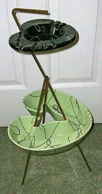 Smoking was a serious popularity back then great retro ashtray I need one of these outside on the back patio