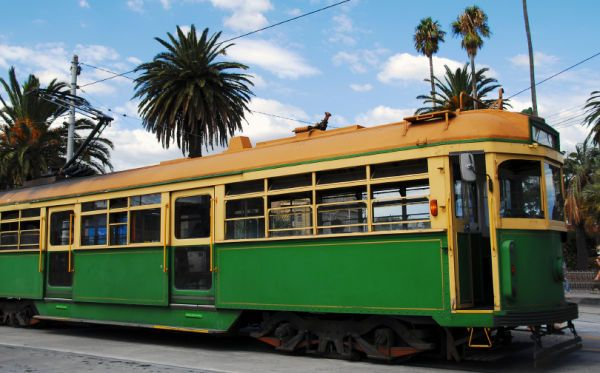 Melbourne Tram. This was the perfect way to get around Melbourne! I wish our transportation here was even half as good as theirs was!