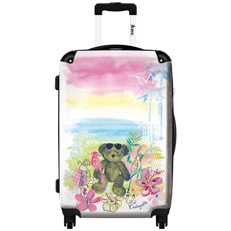 iKase 'Lulu Castagnette Exotic' 24-inch .Hardside Spinner Luggage