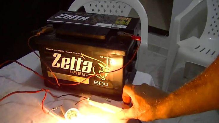 Carregador De Baterias Para Carro E Moto caseiro usando uma lampada inca...