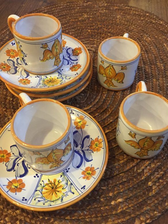 Espresso set with Florence Lily by Lorenza for Curran - www.sbigoliterrecotte.it