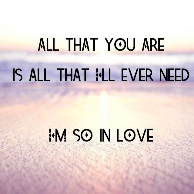 All that you are is all that I'll ever need. Ed Sheeran - Tenerife Sea