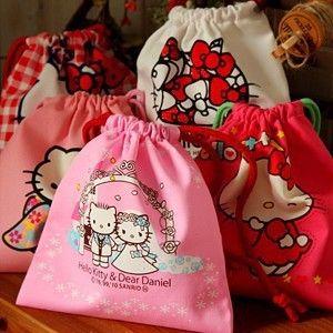 Ucuz Kawaii hello kitty pamuk kumaş İpli çanta çantası organizer kılıfı kcs, Satın Kalite saklama Poşetleri doğrudan Çin Tedarikçilerden:           &n