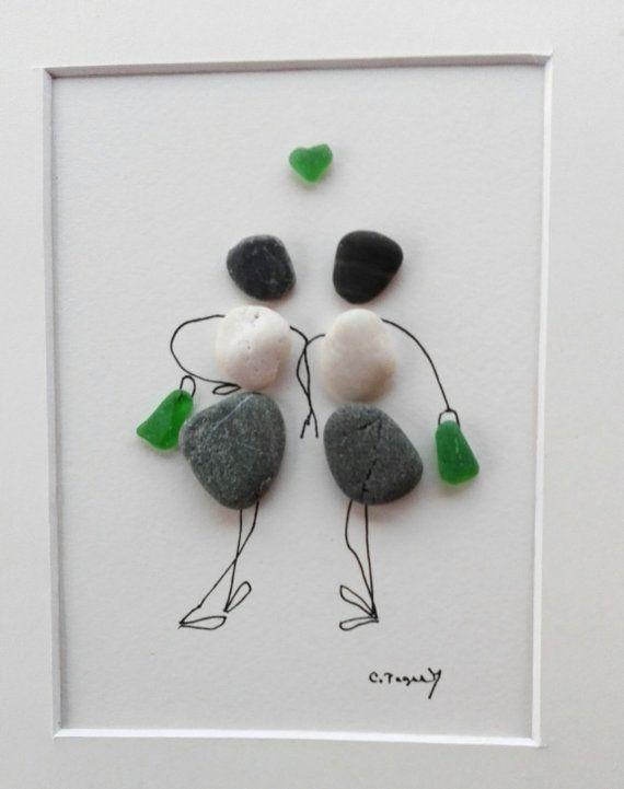 Pebble art friends Friends girls gift Girls by pebbleartSmiljana