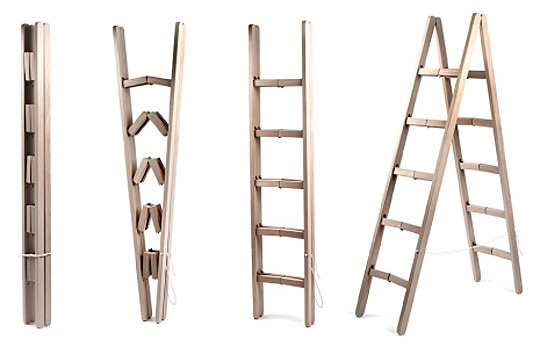 How nifty is this? A foldable ladder - perfect for apartment and condo dwellers with little storage.