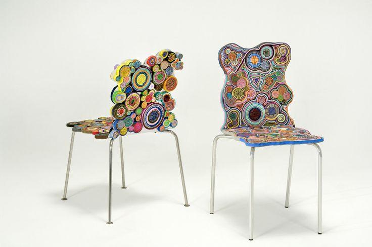 Harumaki Chair, sillas de plástico reciclado => http://monkeyzen.com/2012/03/harumaki-chair-sillas-de-plastico-reciclado