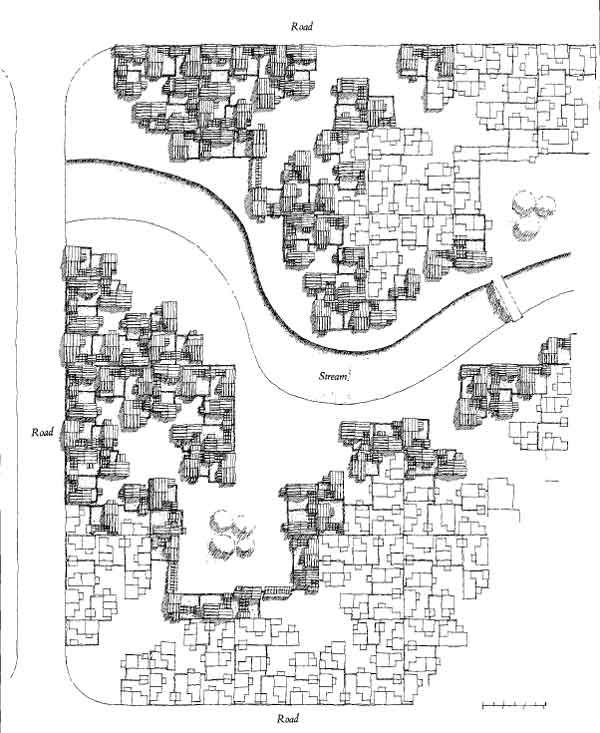 Map of the Artist Village in New Mumbai by Charles Correa