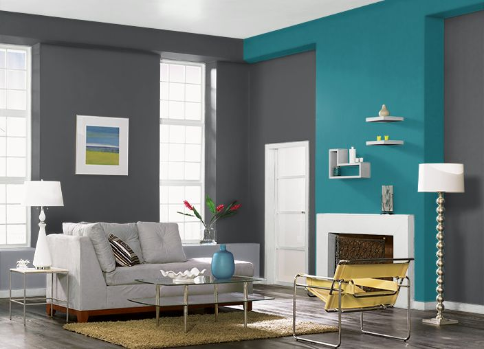 This is the project I created on Behr.com. I used these colors: CRACKED PEPPER(PPU18-1),CARIBE(PPU13-1),DOWN POUR(760F-4),ULTRA PURE WHITE(1850),