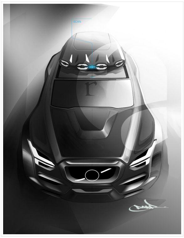 Volvo concept rendering by Roberto Acedera Jr.