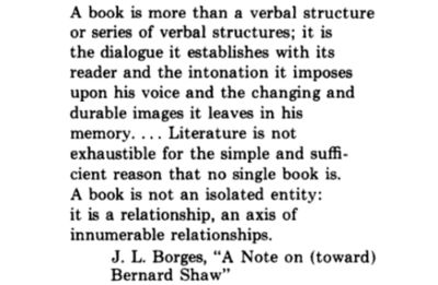 'A Note On (toward) Bernard Shaw' by Jorge Luis Borges