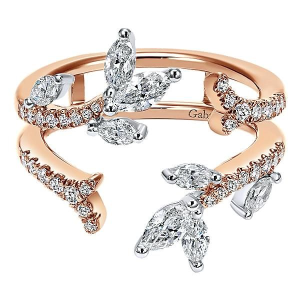 14k White/pink Gold Contemporary Jacket Anniversary Band