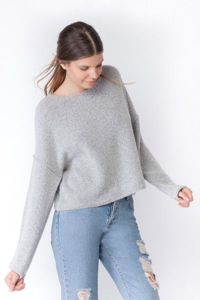 SUBDUED SWEATSHIRTS   SHORT OVERSIZED SWEATSHIRT