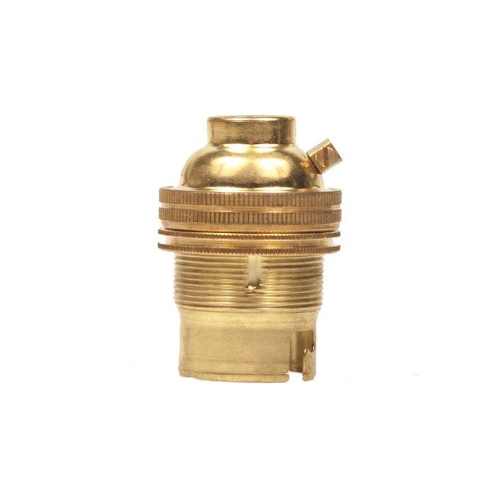 Bayonet Brass Period Lampholder 3/8