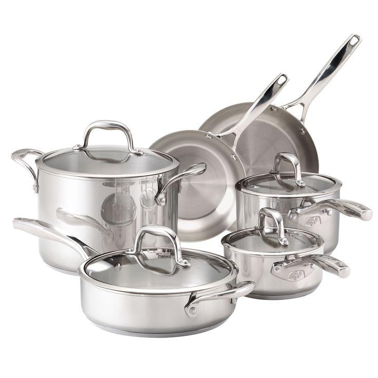 Guy Fieri Stainless Steel 10-piece Cookware Set - Overstock Shopping - Great Deals on Guy Fieri Cookware Sets