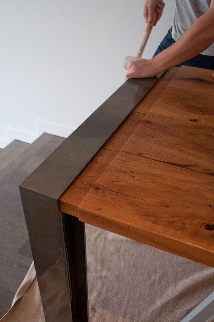The Charles Table and Bench are made using locally sourced white oak and powder coated steel. The table top is traditionally joined and finished with natural oil. Our signature Post legs are mounted flush with countersunk stainless steel machine fasteners.