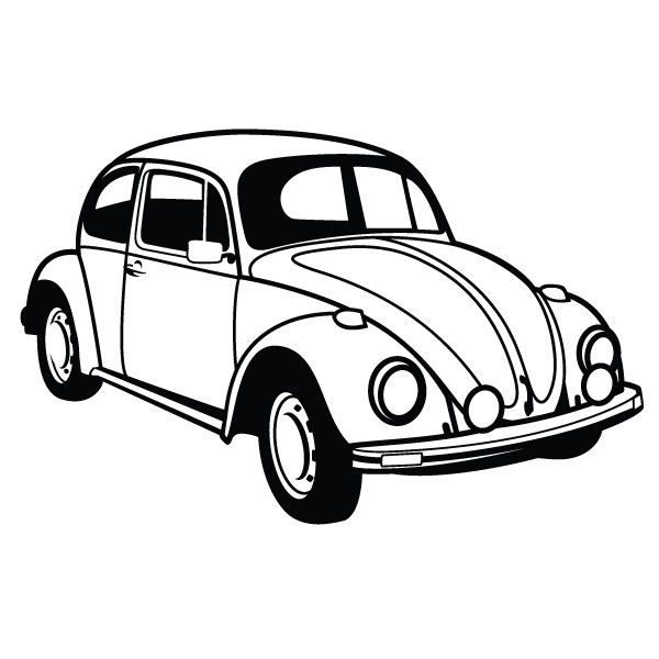 D Line Drawings Ikea : Vw beetle car vector by vectorportal viantart on