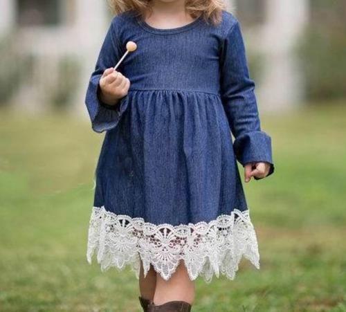21+ Little girls denim dress information