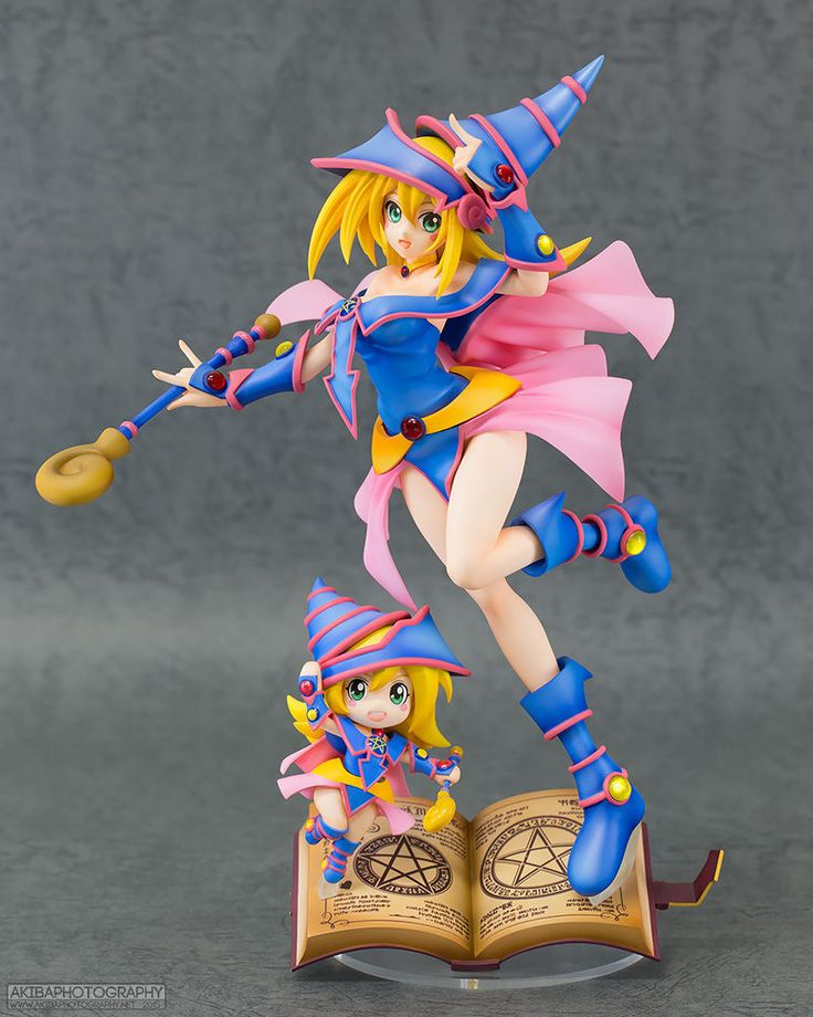 Yu Gi Oh Duel Monsters Black Magician Girl With Chibi Pvc -9509