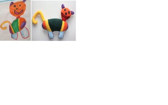 here is the very first Monchie we made - CAT