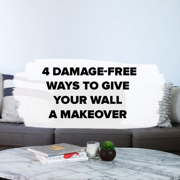4 Damage-Free Ways To Give Your Walls A Makeover #walls #DIY #pictureframes #rug