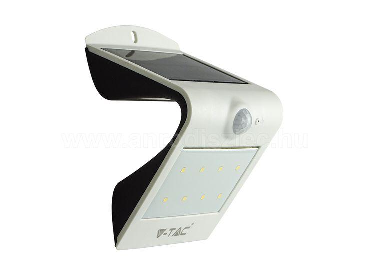 Napelemes oldalfali lámpa (fehér) 1.5 Watt 3000+4000K