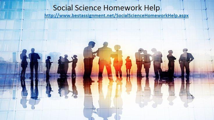 Social Science Homework Help