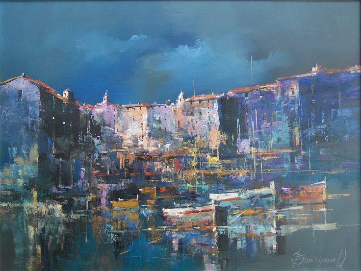Branko Dimitrijevic, Sea View, Oil on canvas, 45x60cm