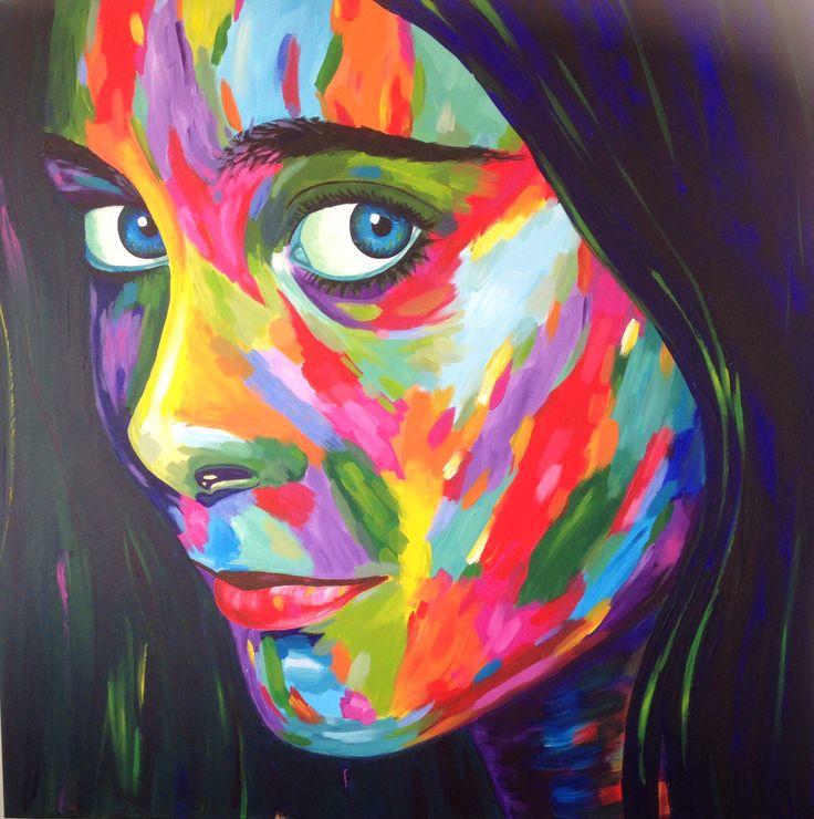 Portret v. Bibi op 100x100