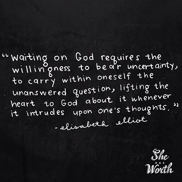 """The sign on the wall in God's waiting room, reads, """"Be still...and know that I am God""""."""