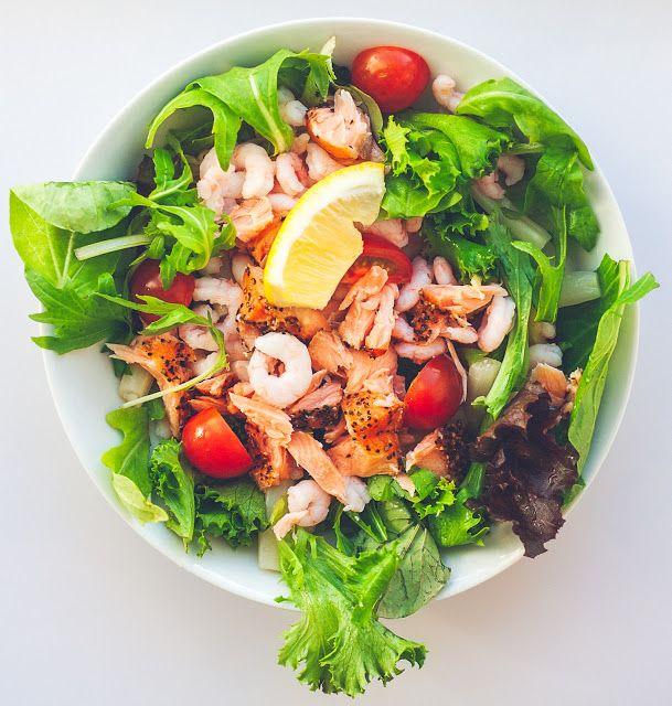 Mad på 4 sal: Salat med rejer og laks