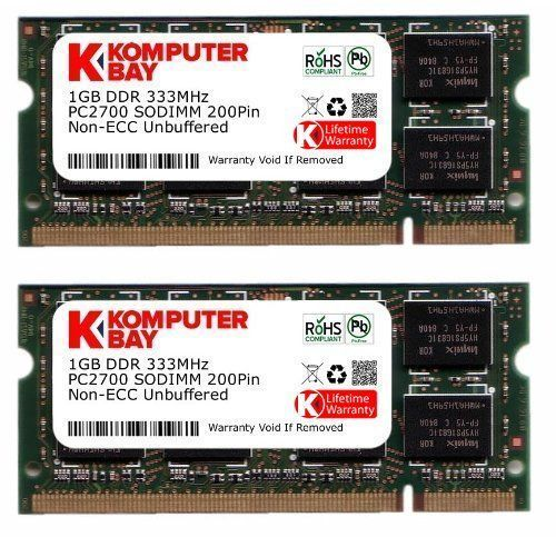2GB (2x1GB) PC2700 DDR SODIMM 333 MHZ LAPTOP RAM * DDR SDRAM (double data rate synchronous dynamic random access memory). Twice the bandwidth of SDRAM. SUPPORTS DUAL CHANNEL . JEDEC standards for speeds of DDR SDRAM * BRAND NEW 2GB (2x1GB) PC2700 Sodimm DDR 333 Mhz Cl 2.5 * COMPATIBLE WITH LAPTOPS * (Placed within the Amazon Associates program) * 05:52 Mar 6 2017