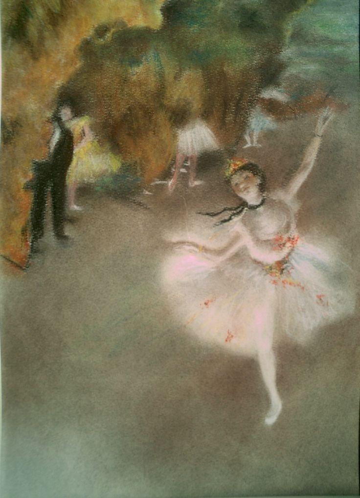 Edgar Degas, Ballerina che fa il saluto, 1876-77