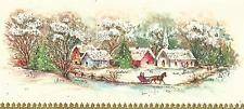 60s GLITTERED, Mid Century Sleigh Ride,  CHURCH Vintage Christmas Card-Greeting