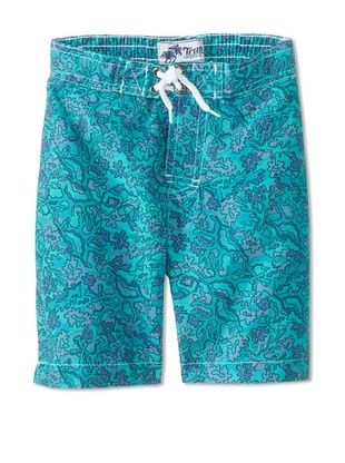 65% OFF Trunks Boy's Swami Short (Turquoise Reef)