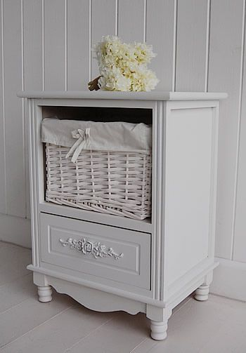 white bedside cabinet two drawer rose white bedroom furniture
