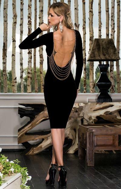 Rochii elegante: rochie midi cu spatele gol
