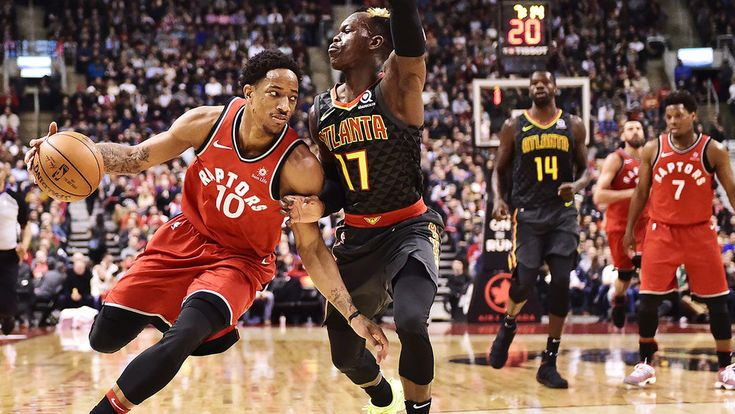 Review Written by Adam Garfield  The Hawks definitely had the advantage coming out of the gates, led by Kent Bazemore's 5 points. Miles Plumlee and Tyler Dorsey combined for 10 in favor of Atlanta as they led the Raptors. Toronto fought back later in the quarter as DeMar DeRozan's 7 points charged up the team.  #616 #6ix #AtlantaHawks #featured #GameReview #NBA #Southofthe6ix #Toronto #TorontoRaptors