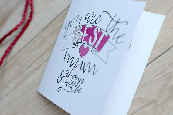 Mother's Day Papercut card You Are The Best by FairyMadePaperart