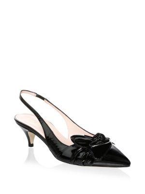 cea9b4bd20 KATE SPADE Ophelia Leather Slingback Pumps. #katespade #shoes ...