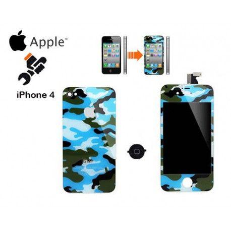 Transformación a iPhone 4 - Camuflaje Azul 80€
