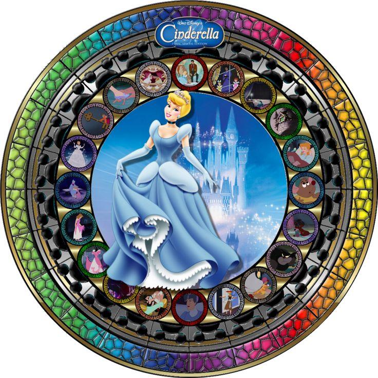 Masterpiece Cinderella Stained Glass by Maleficent84.deviantart.com on @deviantART